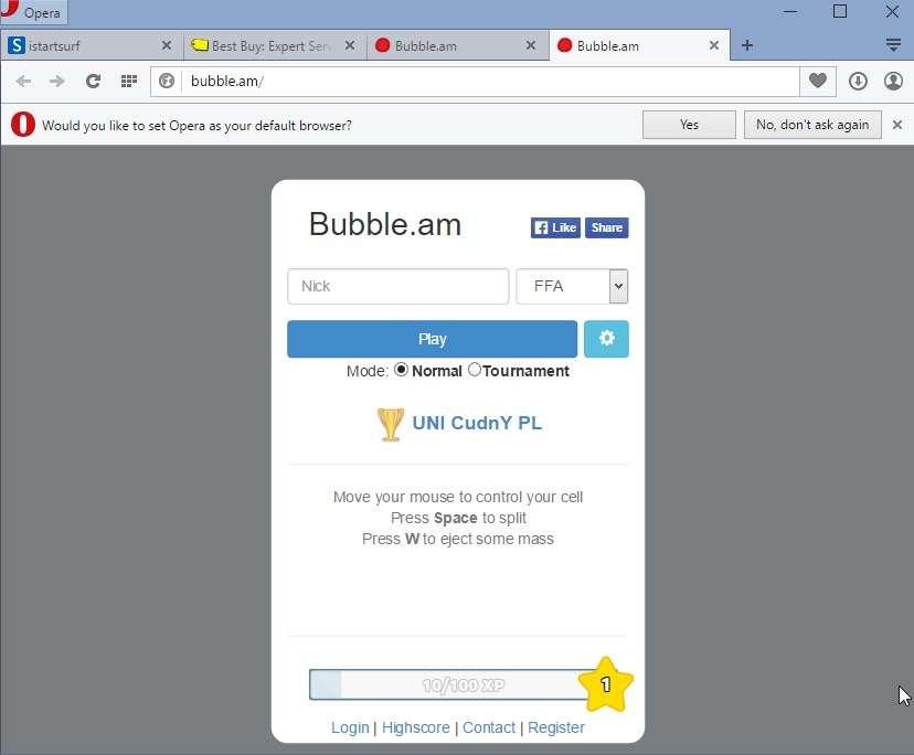 Verwijderen Bubble. am pop-up