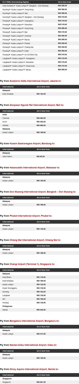 AirAsia Kami Malaysia Promotion Fares Details