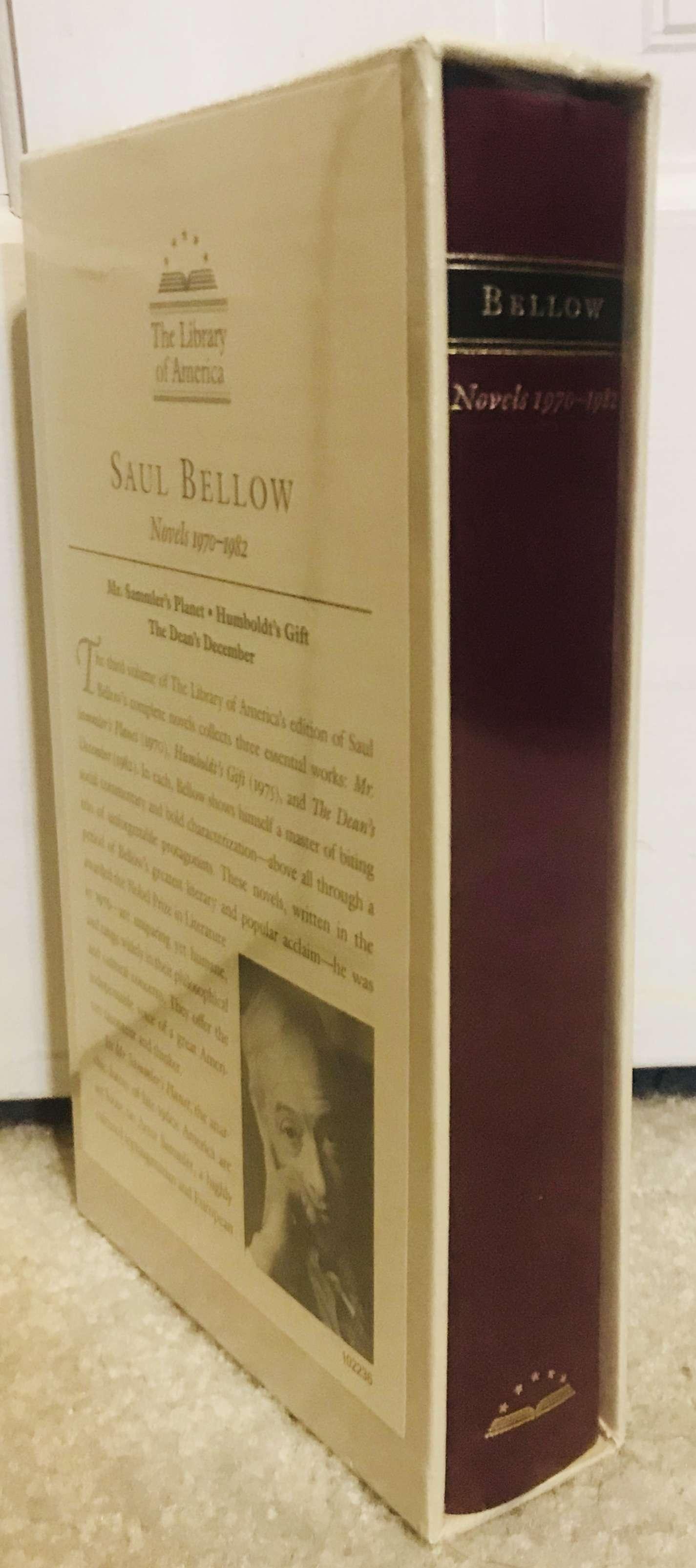 Saul Bellow: Novels 1970-1982 (LOA #209): Mr. Sammler's Planet / Humboldt's Gift / The Dean's December (Library of America Saul Bellow Edition), Bellow, Saul