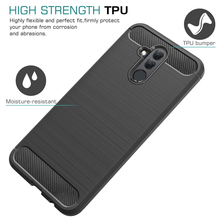 Coque-Etui-Housse-Silicone-brossee-Fibre-de-carbone-Noir-Protection-Huawei miniature 23
