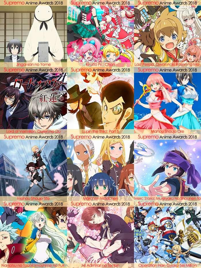 Eliminatorias Nominados a Mejor Anime de Aventura y Fantasía 2018