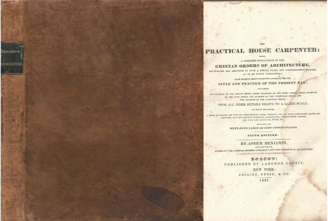 The Practical House Carpenter Grecian Orders of Architecture 5th Edition 1837, Asher Benjamin