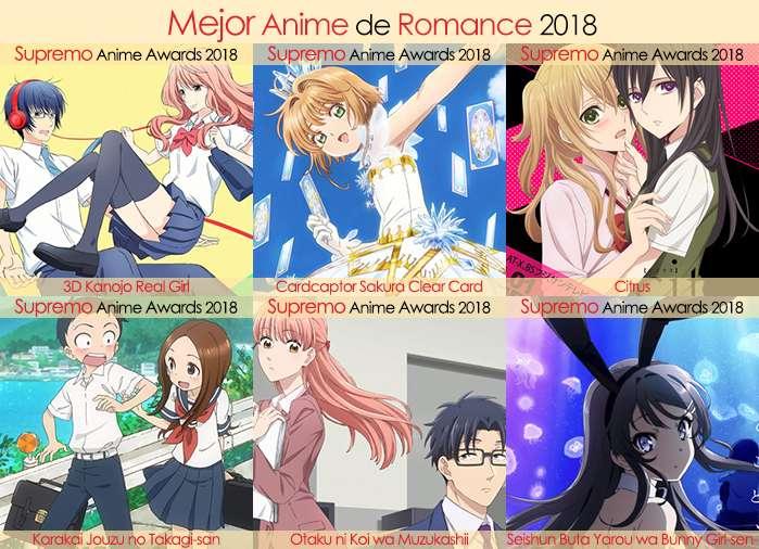 Final X Categorias Nominados a Mejor Anime de Romance 2018