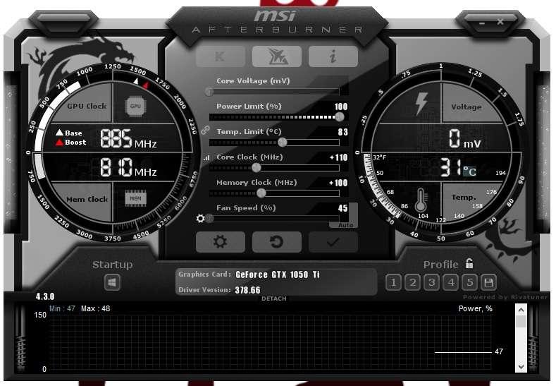 Overclocking Intel Core i5 6600k and Zotac Gtx 1050 Ti 4Gb OC