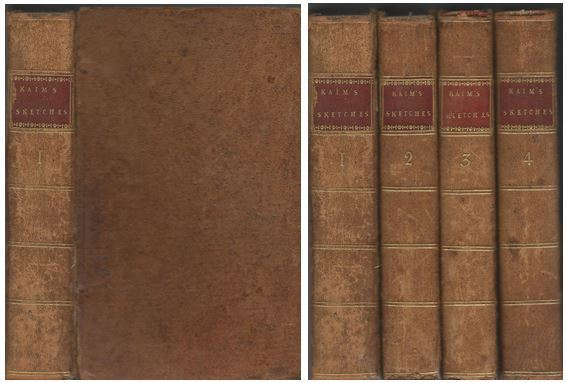Sketches of the History of Man Complete 4 Volume Set Leather Bound, Henry Home and Lord Kames