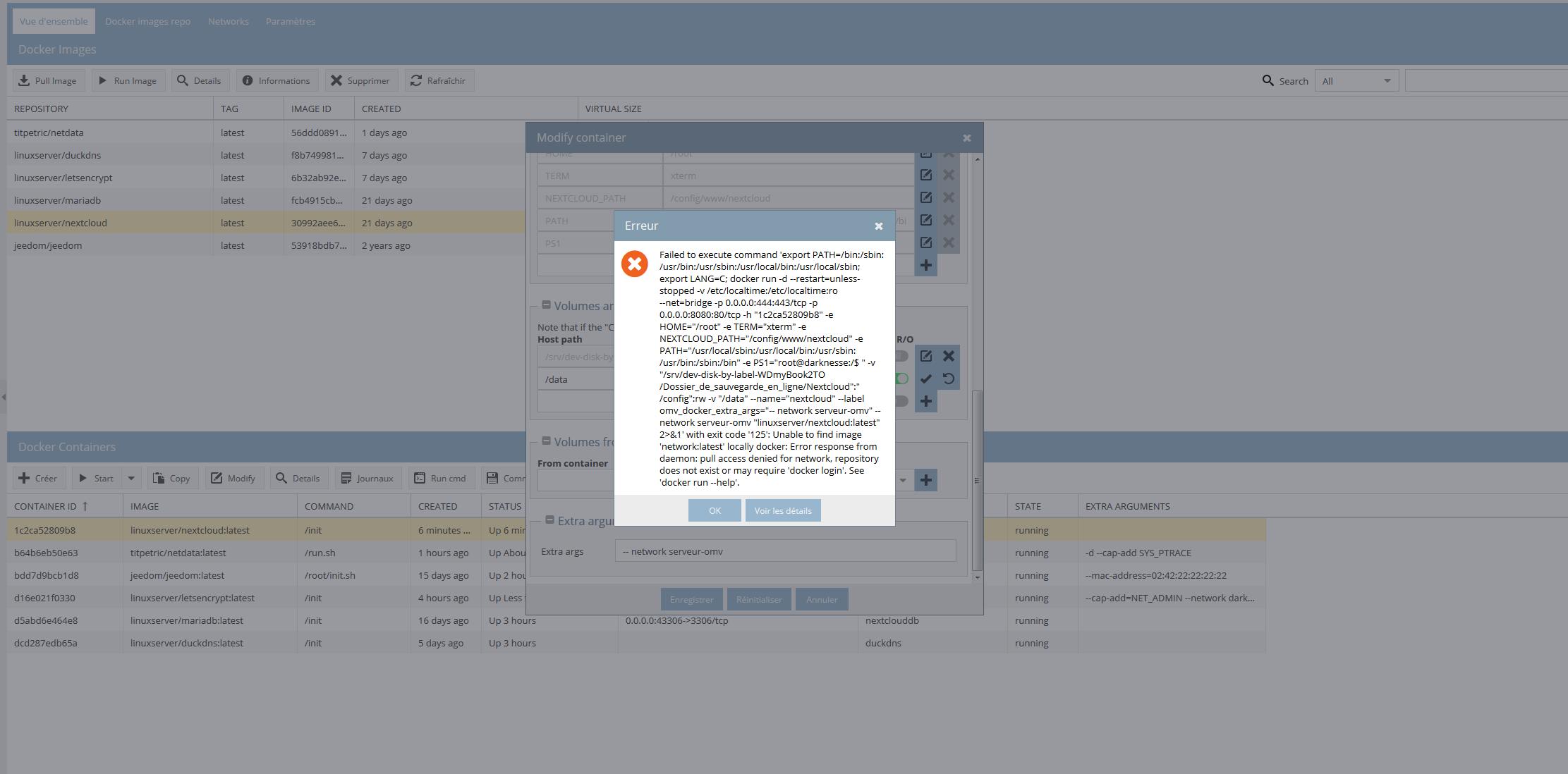 Docker nextcloud and letsencrypt - General - openmediavault