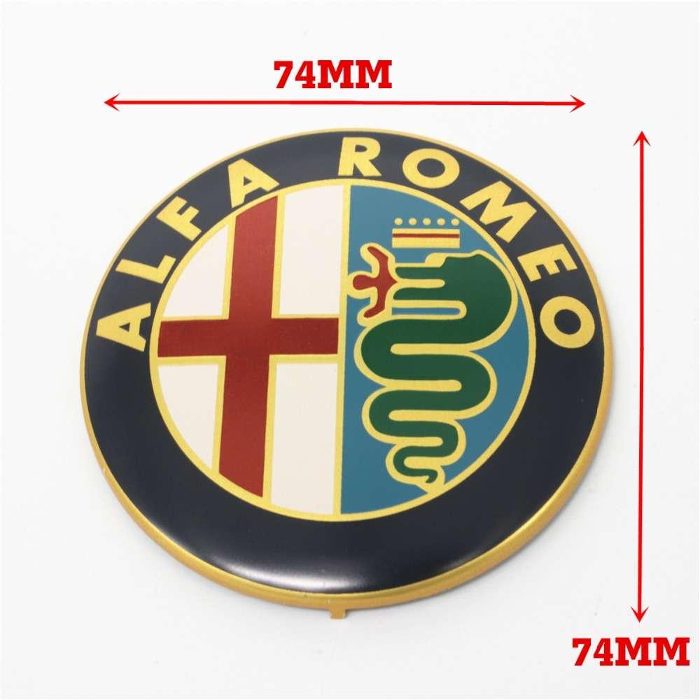 embleme capot coffre alfa romeo 74mm m tal sigle emblem badge logo dor tb ebay. Black Bedroom Furniture Sets. Home Design Ideas