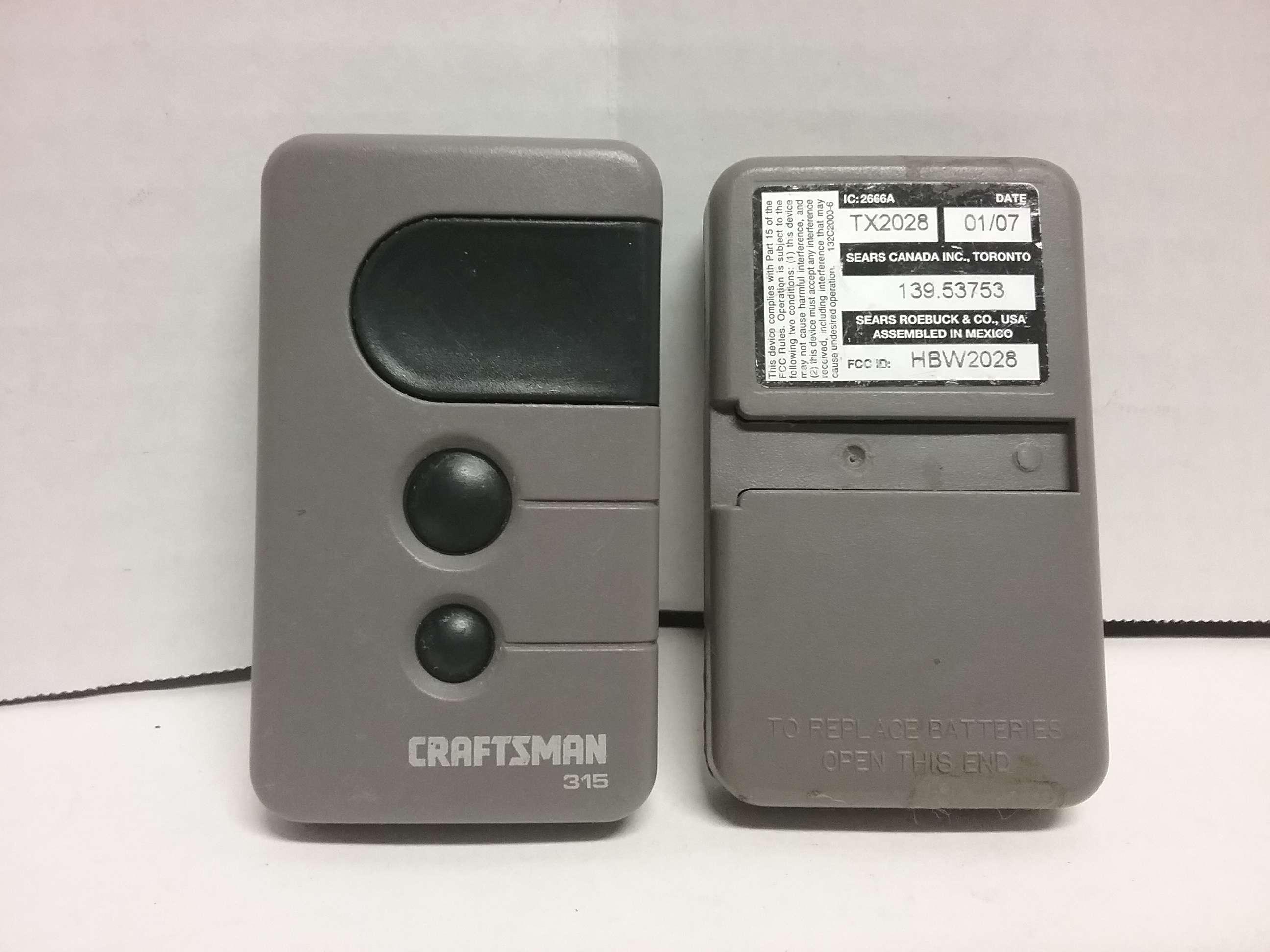 Craftsman 3 Button Remote Garage And Gate Opener 315 139