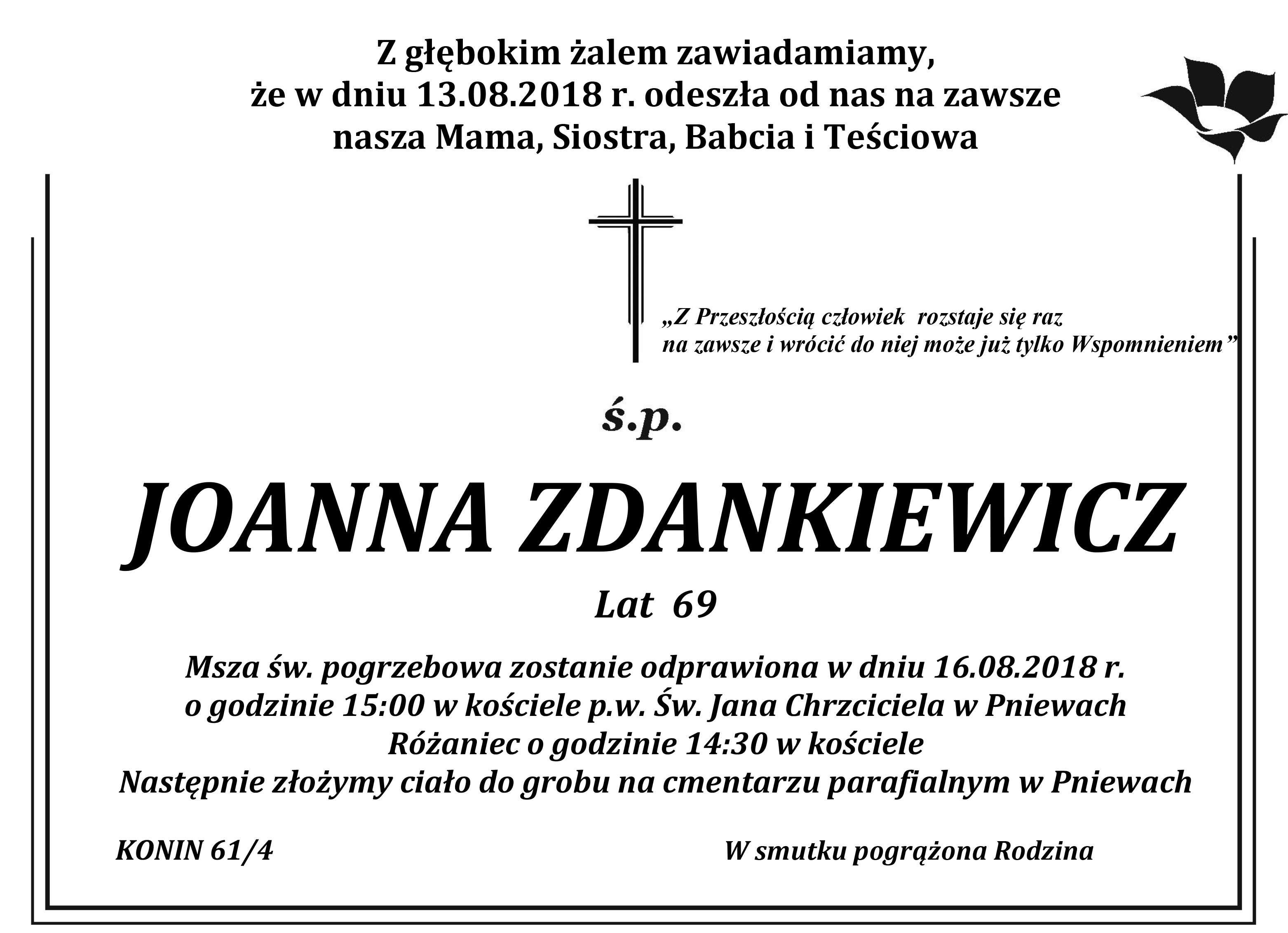 Żyli wśród nas – Joanna Zdankiewicz