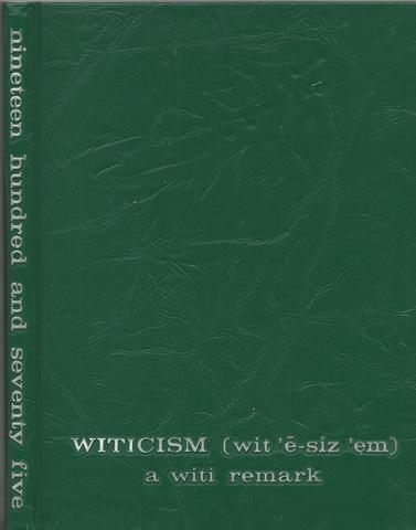 Witicism Worcester Massachusetts Industrial Technical Institute 1975 Yearbook, Class of 1975