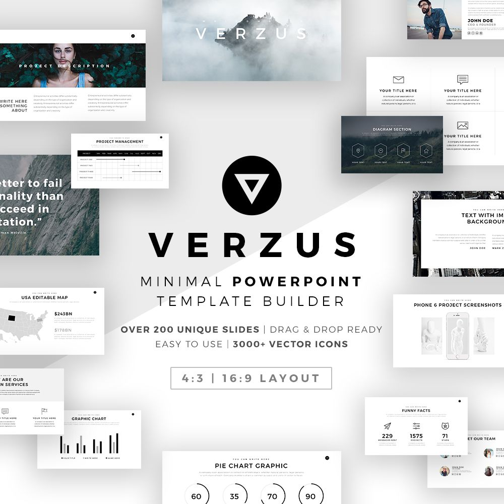 Prism Minimal PowerPoint Template Builder Graphic Free