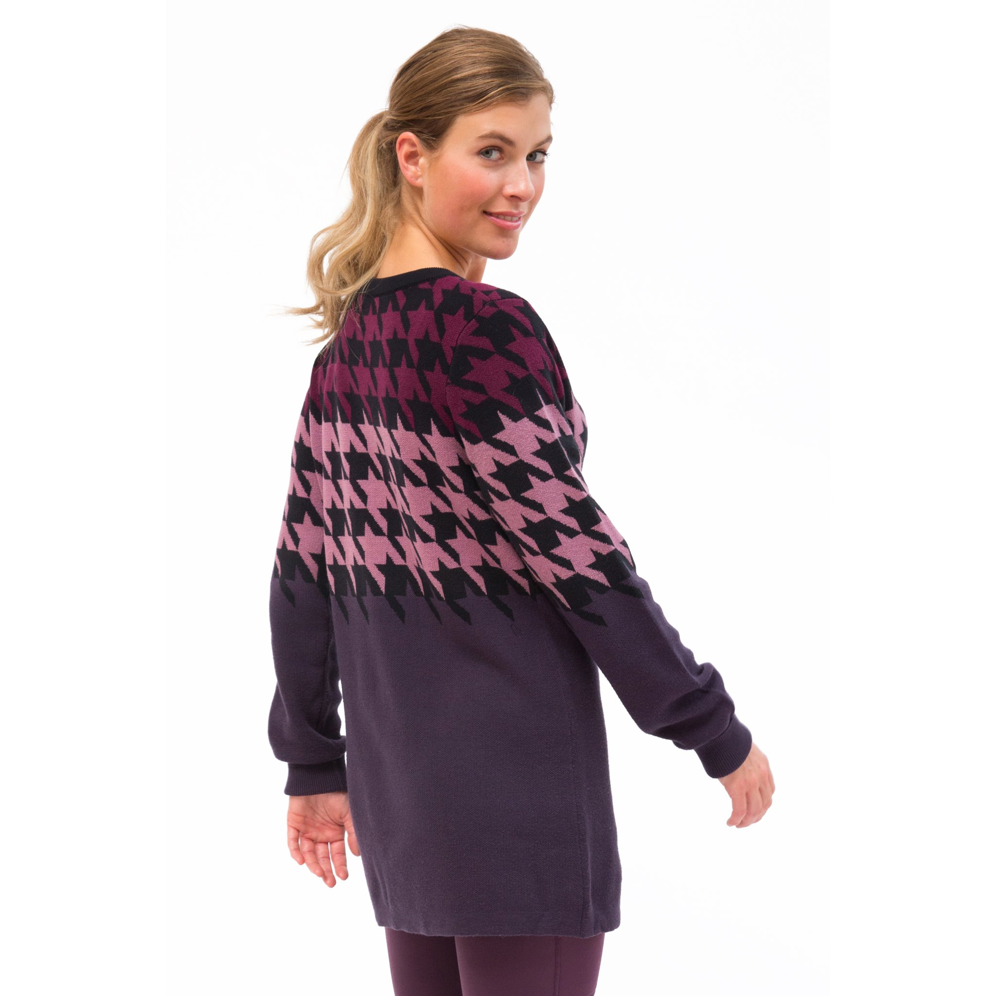 Kerrits-Equestrian-Women-039-s-Houndstooth-Tunic-Sweater-with-Scoop-Neck miniature 6