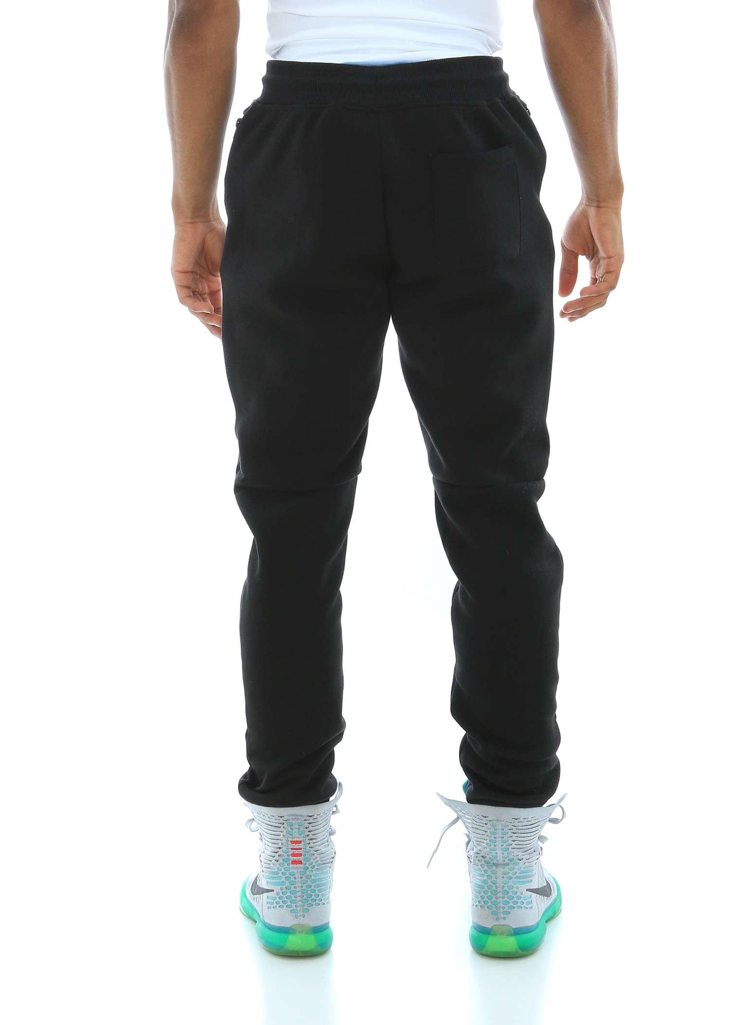 WT02-Men-039-s-Fleece-Jogger-Sweatpants-With-Bonded-Zippers thumbnail 7