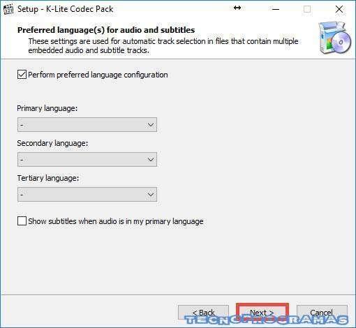 Codec Pack Guía Instalación - Languajes