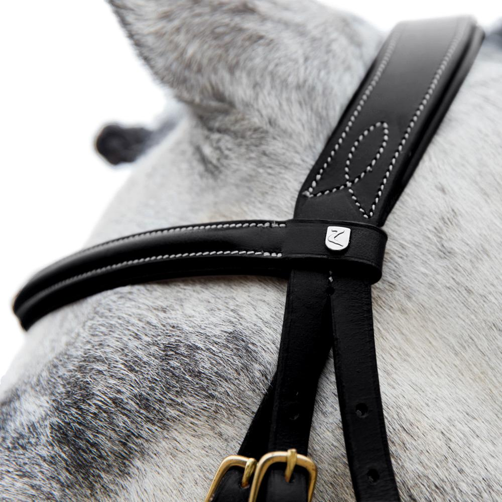Horze-Constance-Bridle-Fancy-Stitching-with-Combined-Noseband-and-Web-Reins miniature 12