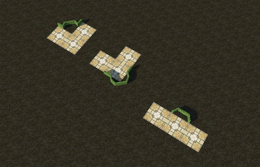 My Projects - CSO's I Have Imported, Garden Hedges - Screenshot Displaying Bench Set-Asides In Three Shapes, Image 07
