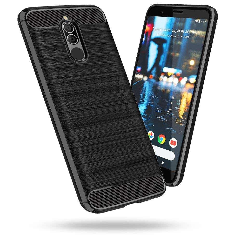 Coque-Etui-Housse-Silicone-brossee-Fibre-de-carbone-Noir-Protection-Huawei miniature 15