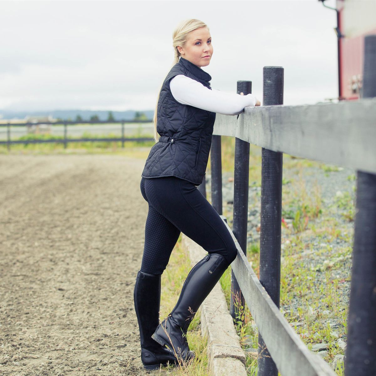 Horze-Women-039-s-Active-Silicone-Grip-Full-Seat-Riding-Breeches-Elastic-Leg-Bottoms thumbnail 35