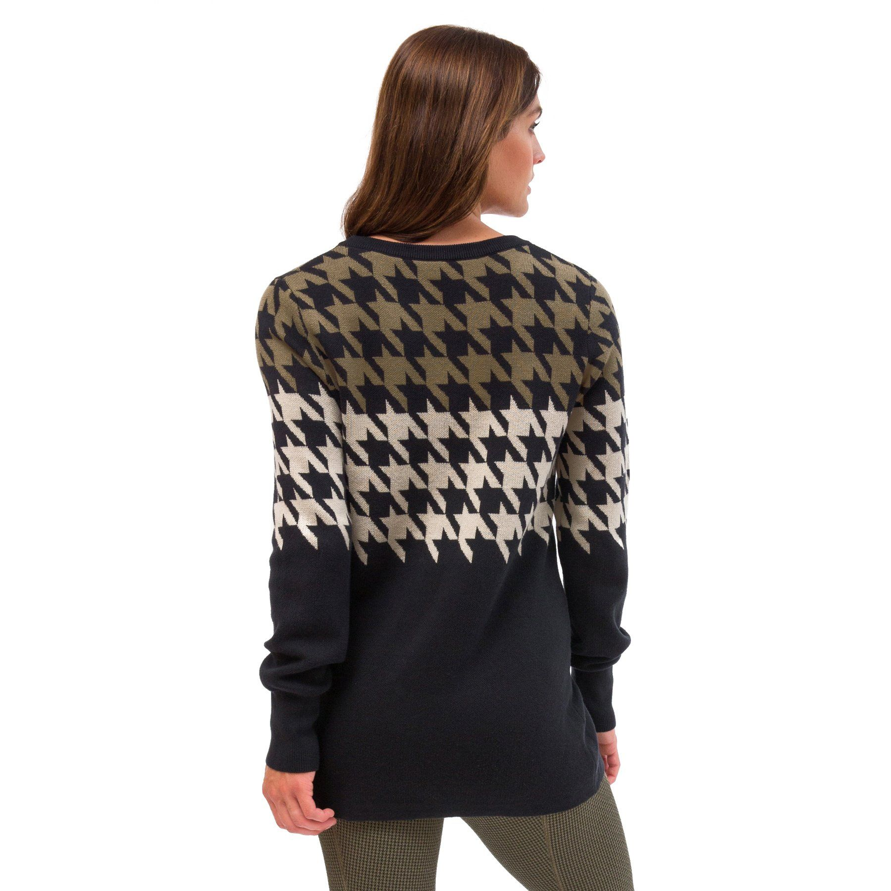 Kerrits-Equestrian-Women-039-s-Houndstooth-Tunic-Sweater-with-Scoop-Neck miniature 9