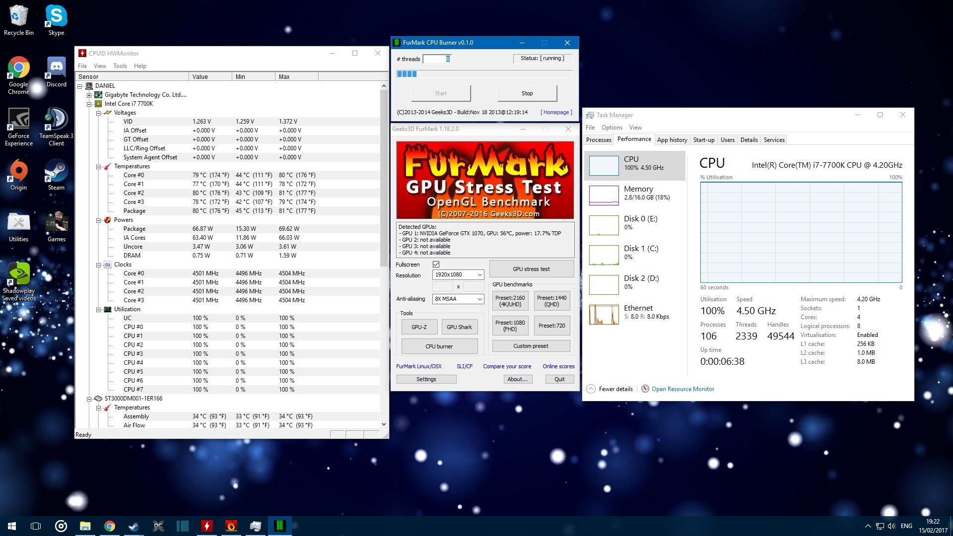 i7 7700k is this a safe temperature? | Tom's Hardware Forum
