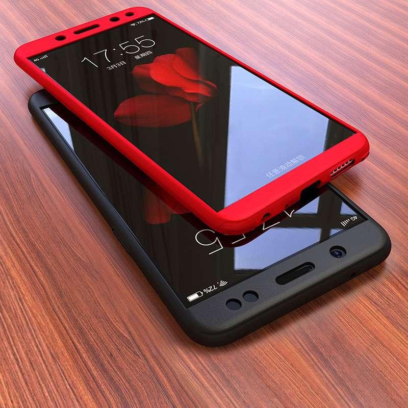 timeless design 18abd ddf63 Xiaomi Redmi Note 5 Pro 360 Hard Matte Tempered Glass Case Cover
