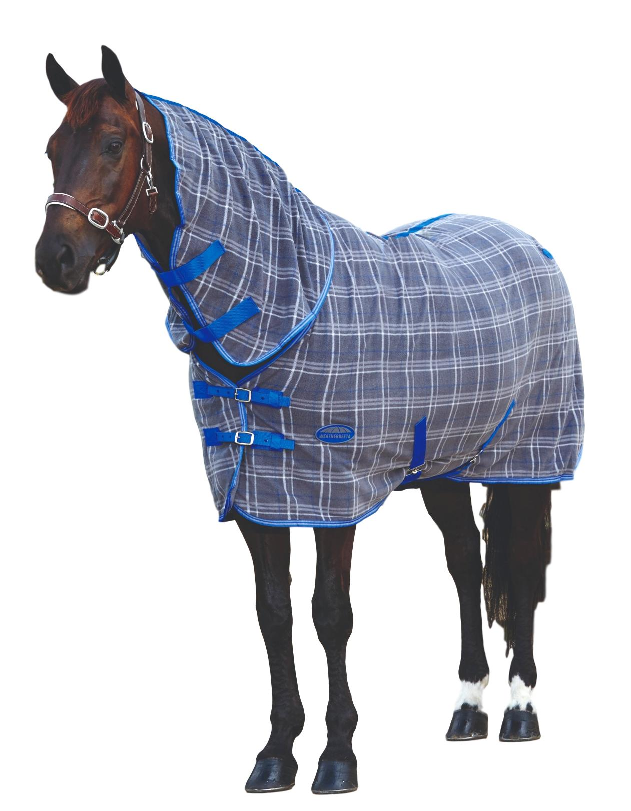 Weatherbeeta-Fleece-Cooler-Sheet-Combo-with-Neck-Cover-and-Lined-Shoulders miniature 5