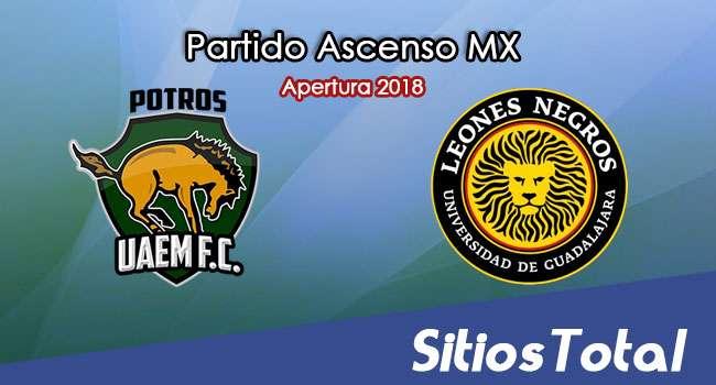 Ver Potros UAEM vs Leones Negros en Vivo – Ascenso MX en su Torneo de Apertura 2018
