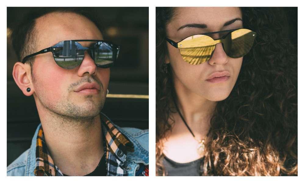 Sonnenbrille TWIG PESSOA Rund Verspiegelt Herren//Damen Jahrgang Retro