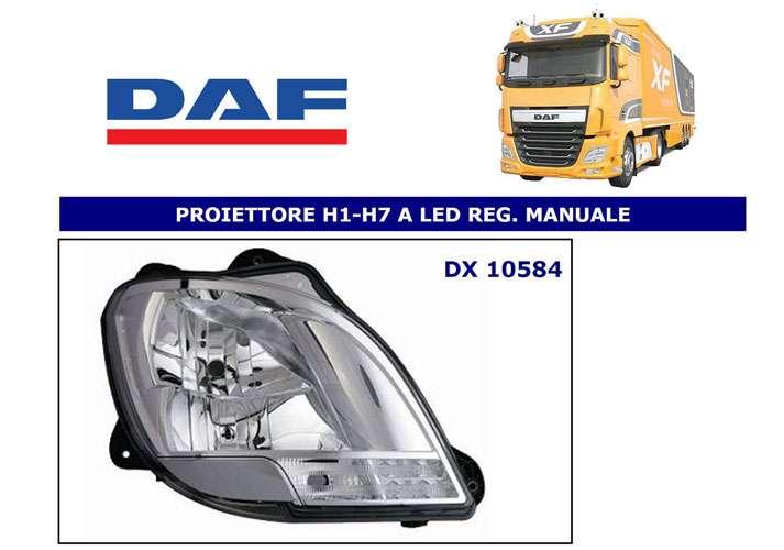 daf xf 106 2013 scheinwerfer projektor rechts h1 h7 led. Black Bedroom Furniture Sets. Home Design Ideas