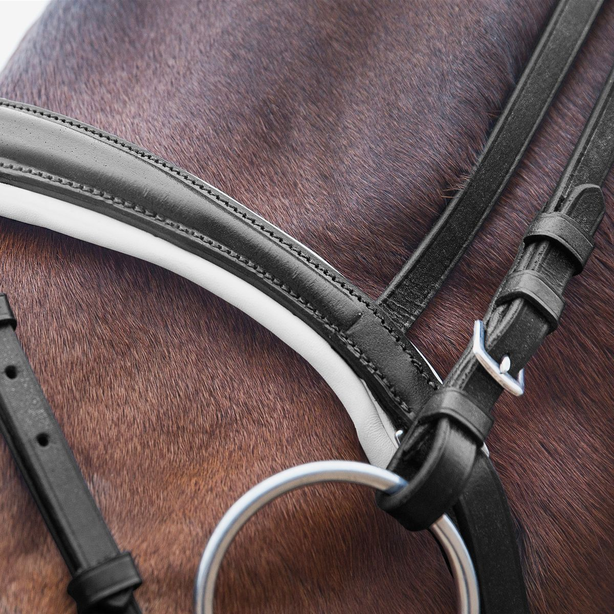Horze-Rohan-Leather-Curved-Padded-Snaffle-Bridle-with-Rhinestone-Browband miniature 18