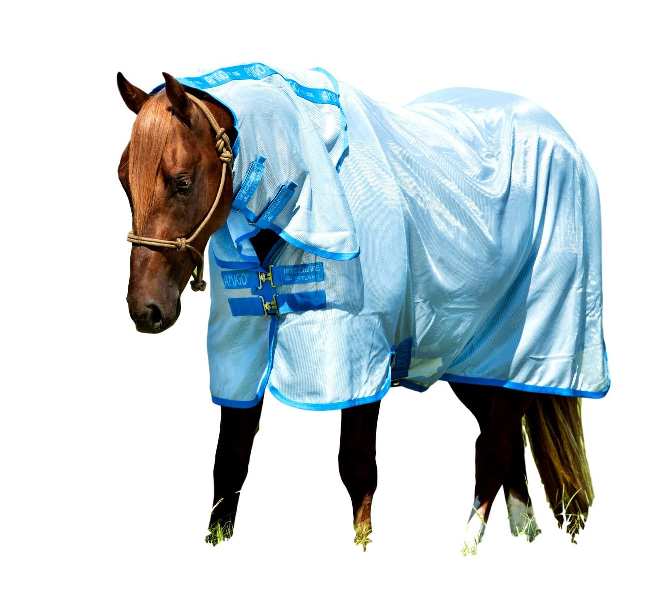 Horseware-Ireland-Amigo-Bug-Blanket-Fly-Sheet-with-Removable-Neck thumbnail 4