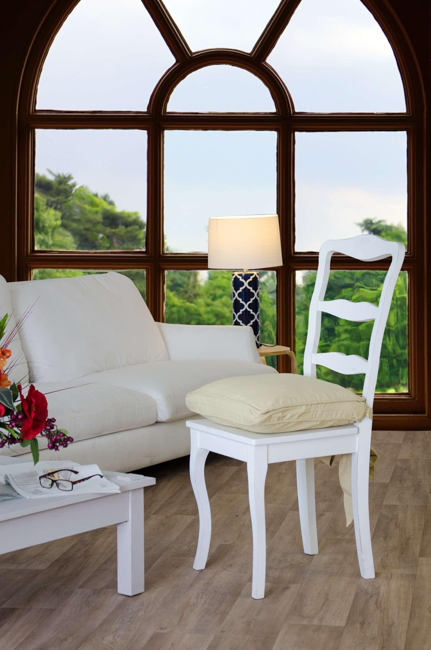 stuhlkissen sitzkissen h lle schwarz beige kissen stuhl schleife kissenh lle ebay. Black Bedroom Furniture Sets. Home Design Ideas