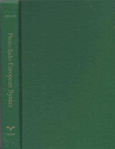 Proto-Indo-European syntax,, Lehmann, Winfred Philipp