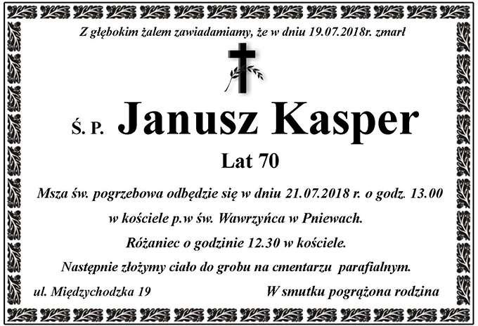 Żyli wśród nas – Janusz Kasper