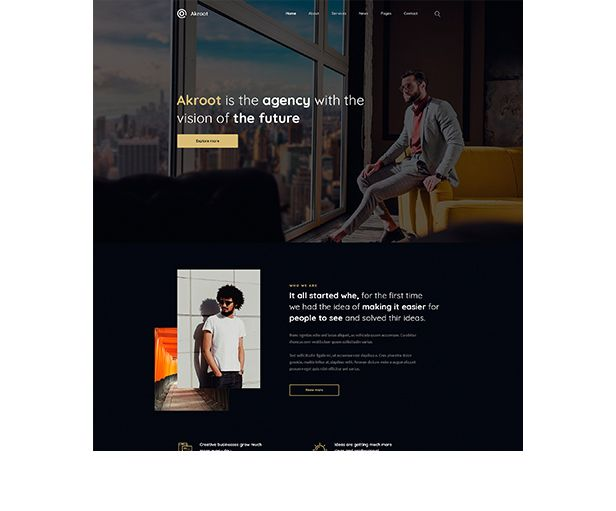 Akroot | It is the Multi-purpose Creative HTML5 Template - 6