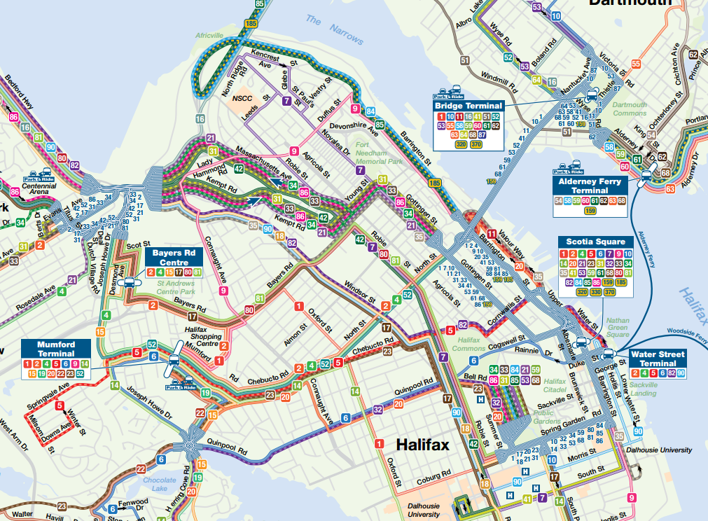 Halifax Transit Map The Great Canadian Transit Thread   Page 438   SkyscraperPage Forum