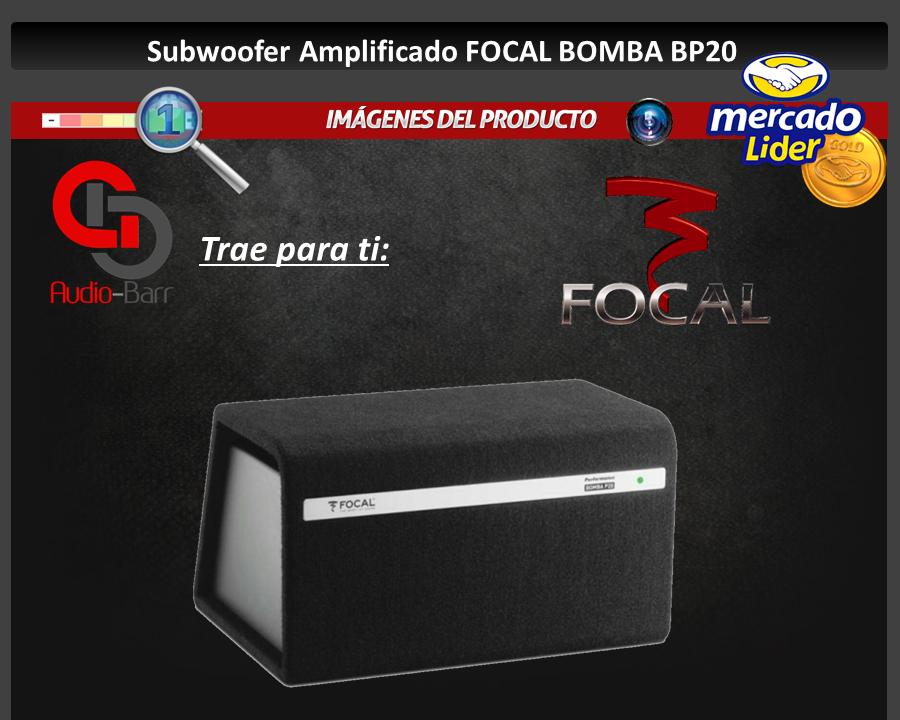 subwoofer amplificado focal 8 bomba bp20 300 watts rms 7955 ch6ef precio d m xico. Black Bedroom Furniture Sets. Home Design Ideas