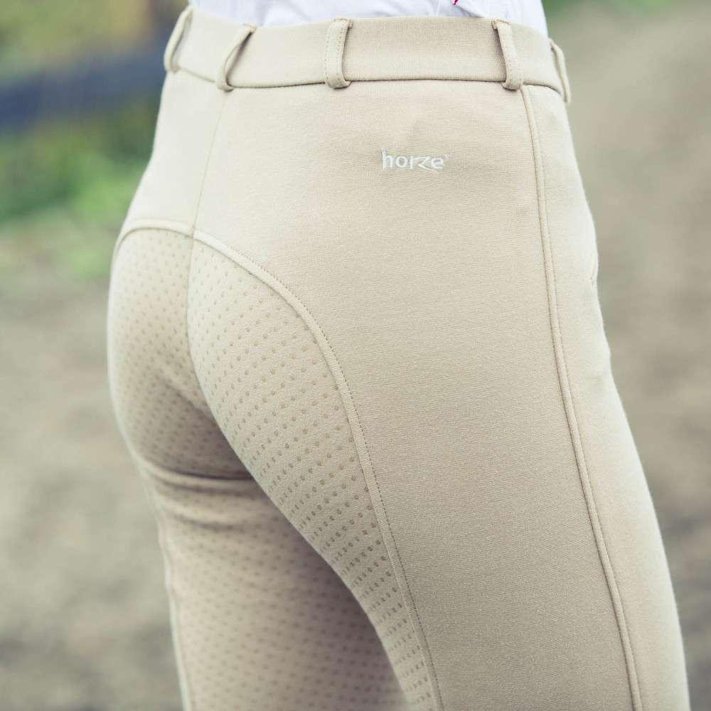 Horze-Women-039-s-Active-Silicone-Grip-Full-Seat-Riding-Breeches-Elastic-Leg-Bottoms thumbnail 11