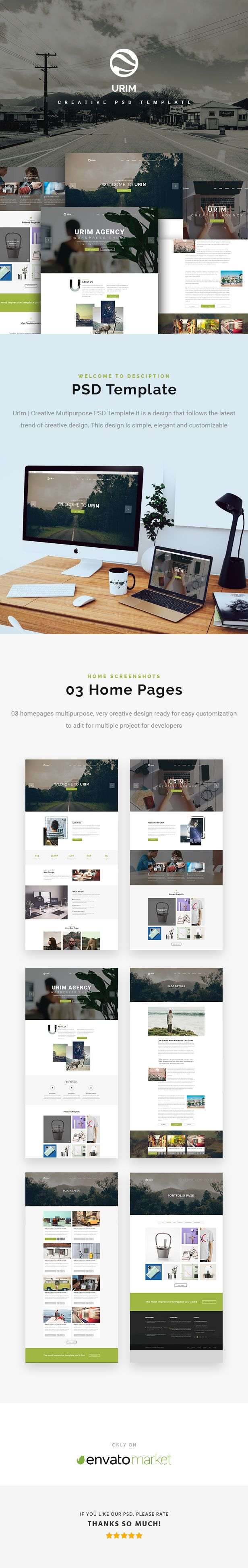 Urim | Creative Multipurpose PSD Template - 2
