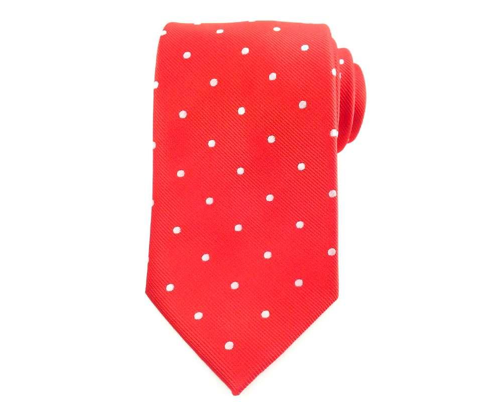 Men/'s Necktie Maroon White Polka Dots 8.5CM Neckties Grooms Wedding Neck Ties