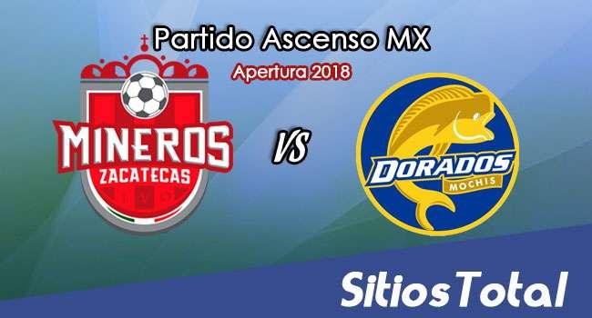 Ver Mineros de Zacatecas vs Dorados de Sinaloa en Vivo – Vuelta Cuartos de Final – Ascenso MX en su Torneo de Apertura 2018
