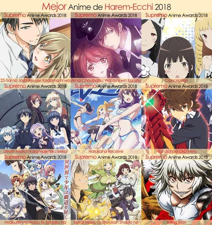 Eliminatorias Nominados a Mejor Anime de Harem-Ecchi 2018