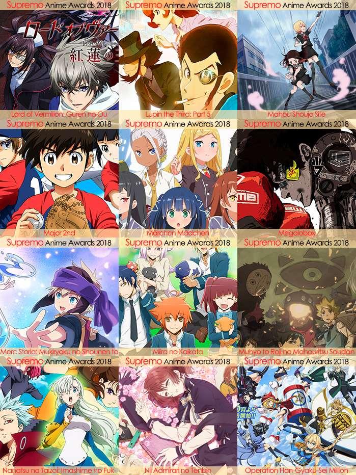 Eliminatorias Nominados a Mejor Anime Shonen 2018
