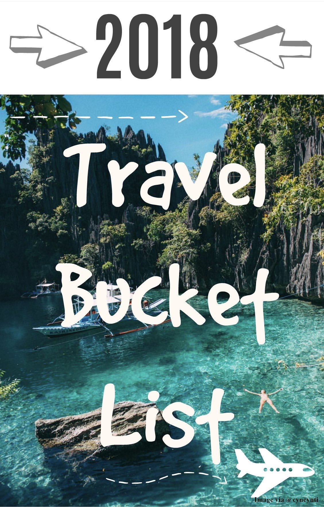 2018 Travel Bucket List