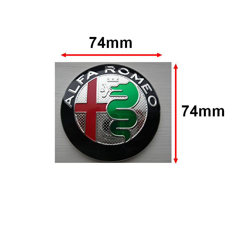 embleme capot coffre alfa romeo 74mm m tal sigle emblem badge logo tb noir ebay. Black Bedroom Furniture Sets. Home Design Ideas