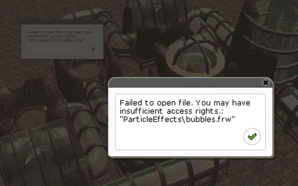 Error Message: Insufficient Access Rights Illustration for FAQ