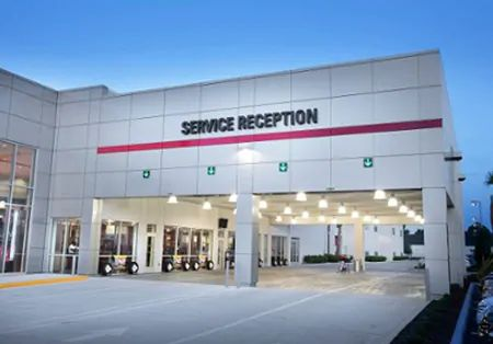 Toyota Service Reception