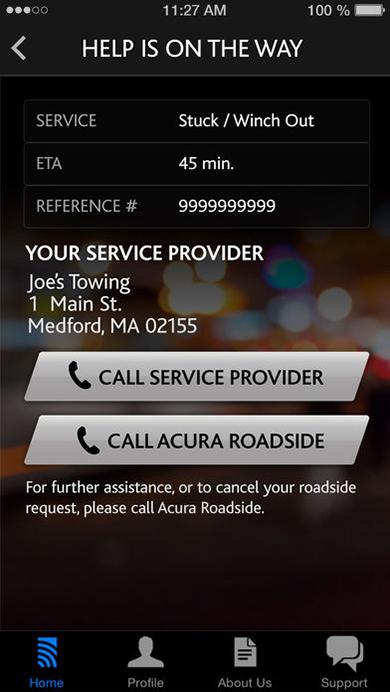 AcuraLink Roadside Assistance App