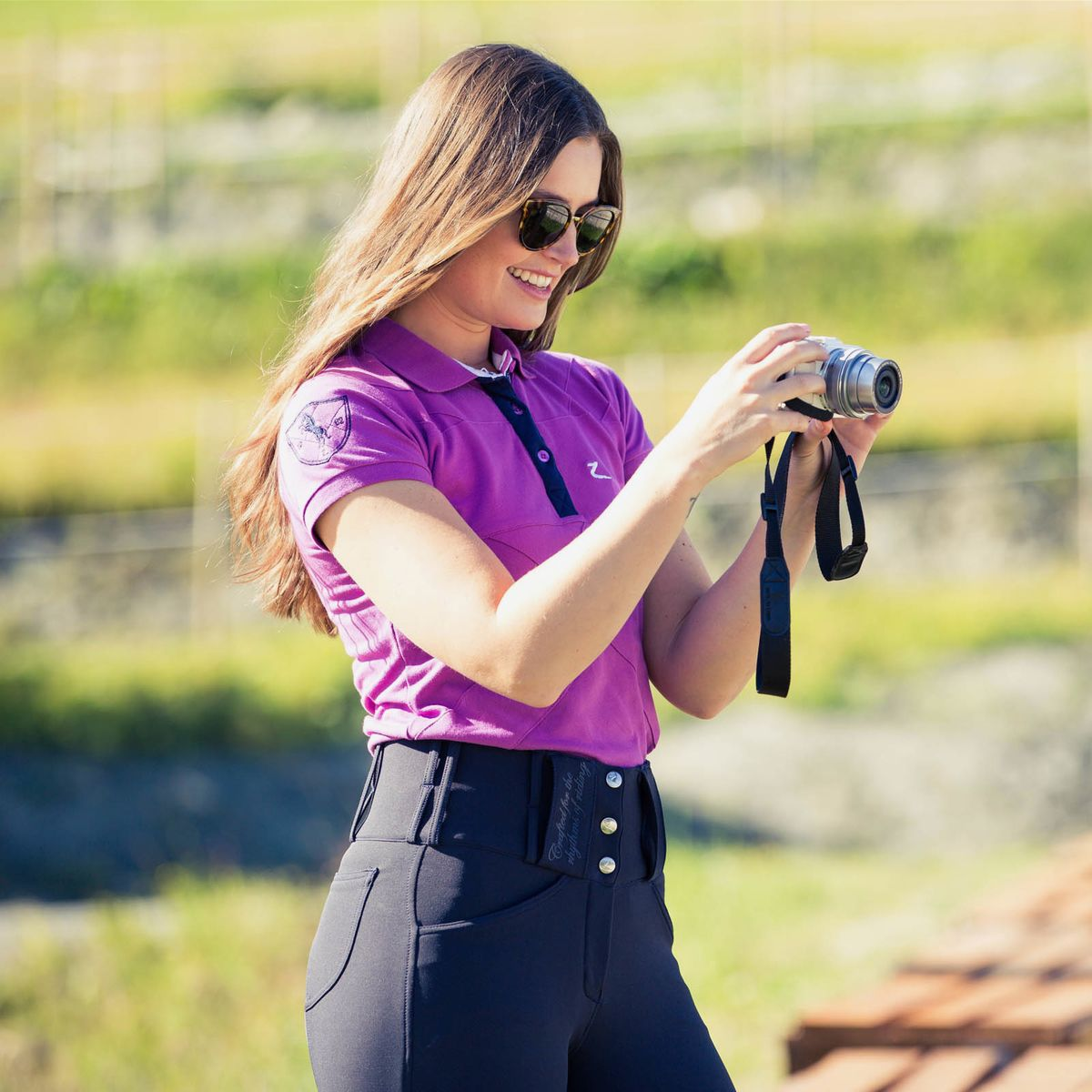 Horze-Desiree-Women-039-s-Knee-Patch-Riding-Breeches-with-High-Waist-and-Bi-Stretch thumbnail 21