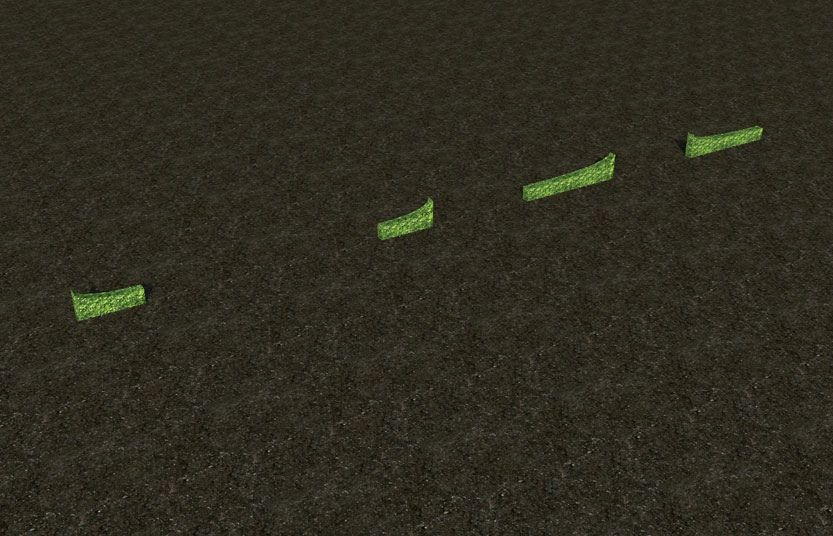 My Projects - CSO's I Have Imported, Garden Hedges - Screenshot Displaying Hedge Pieces That Blend Hedges That Are In Half Meter and In Full Meter Heights, Image 05